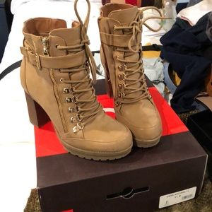 Guess heeled hiking boots